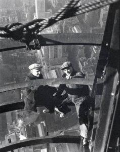 Workers during the construction of the Empire State Building